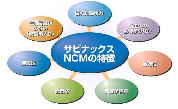 サビナックスNCMの特徴