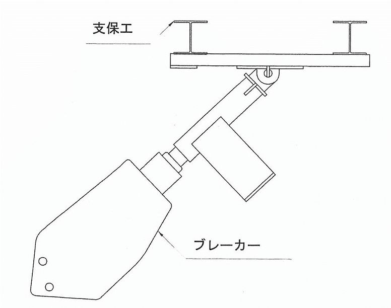 トンネル支保工スクレーパー